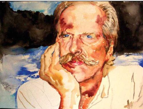 Gene - watercolor portrait by Elizabeth